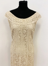 1960's Khaki lace dress/36-38