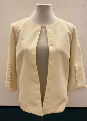 1960's Ivory jacket with buttons/36-38