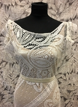 1930's-style Ivory Bohemian lace gown/38