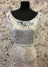 1930's-style White silver lace gown/38
