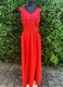 1940's Red taffetas dress/36