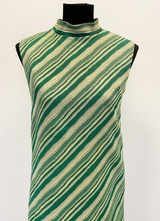 1960's Green stripe gown/36