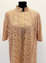 1960's Nude lace dress with jacket/38